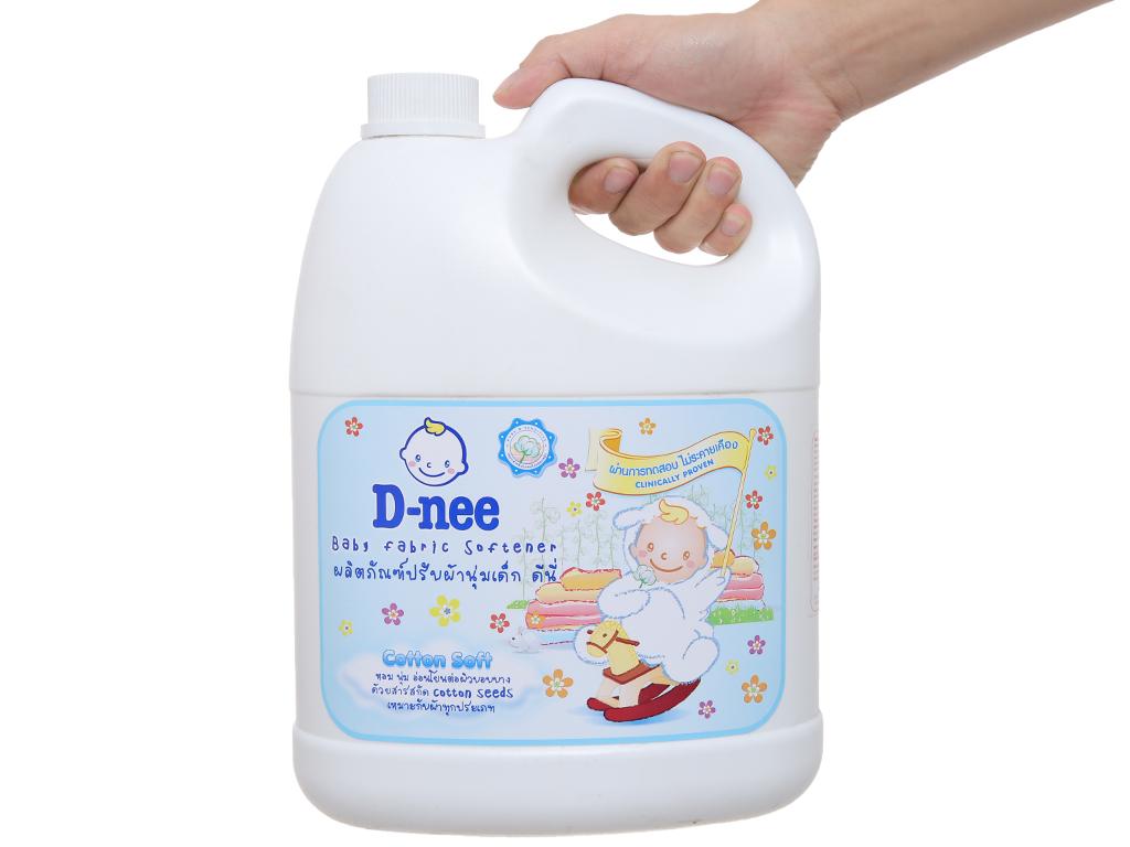 Nước xả vải cho bé D-nee Cotton Soft can 3L 4
