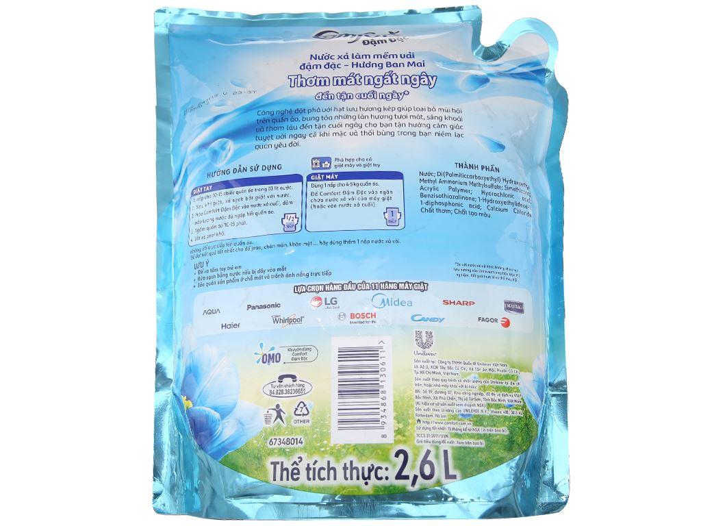 Nước xả vải Comfort hương ban mai túi 2.6 lít 2