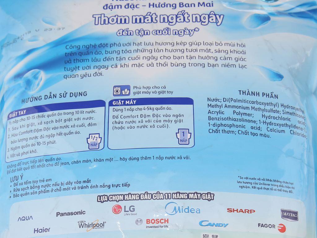 Nước xả vải Comfort hương ban mai túi 2.6 lít 3