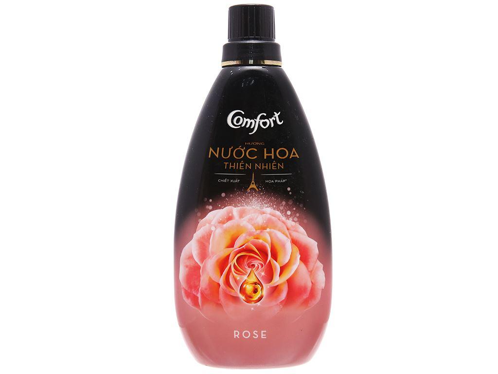 Nước xả vải Comfort hương nước hoa thiên nhiên rose chai 800ml 1
