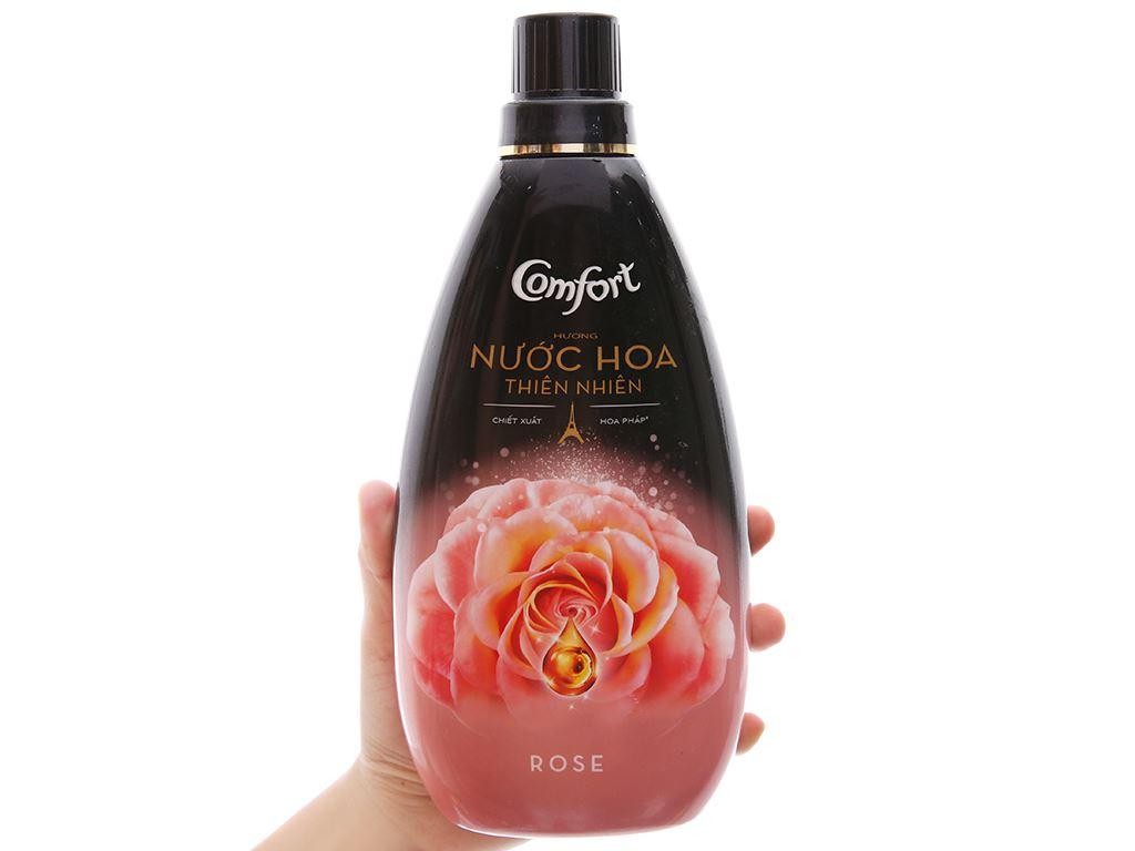 Nước xả vải Comfort hương nước hoa thiên nhiên rose chai 800ml 5
