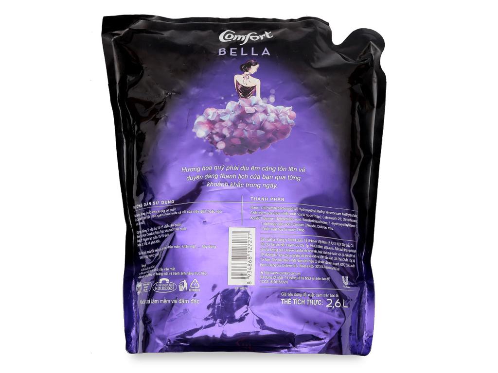 Nước xả vải Comfort nước hoa Bella túi 2.6L 2