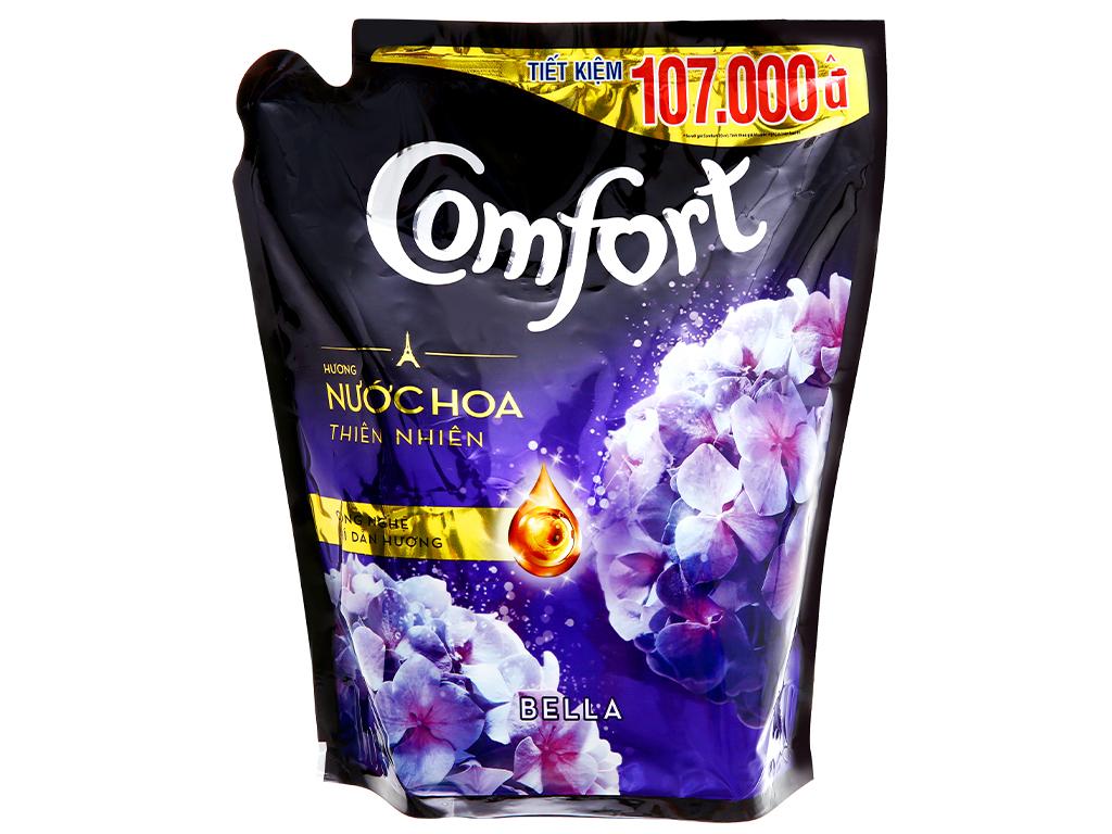 Nước xả vải Comfort hương nước hoa thiên nhiên bella túi 2.4 lít 7