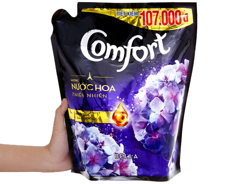 Nước xả vải Comfort hương nước hoa thiên nhiên bella túi 2.4 lít 11