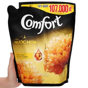 Nước xả vải Comfort hương nước hoa thiên nhiên sophia túi 2.4 lít
