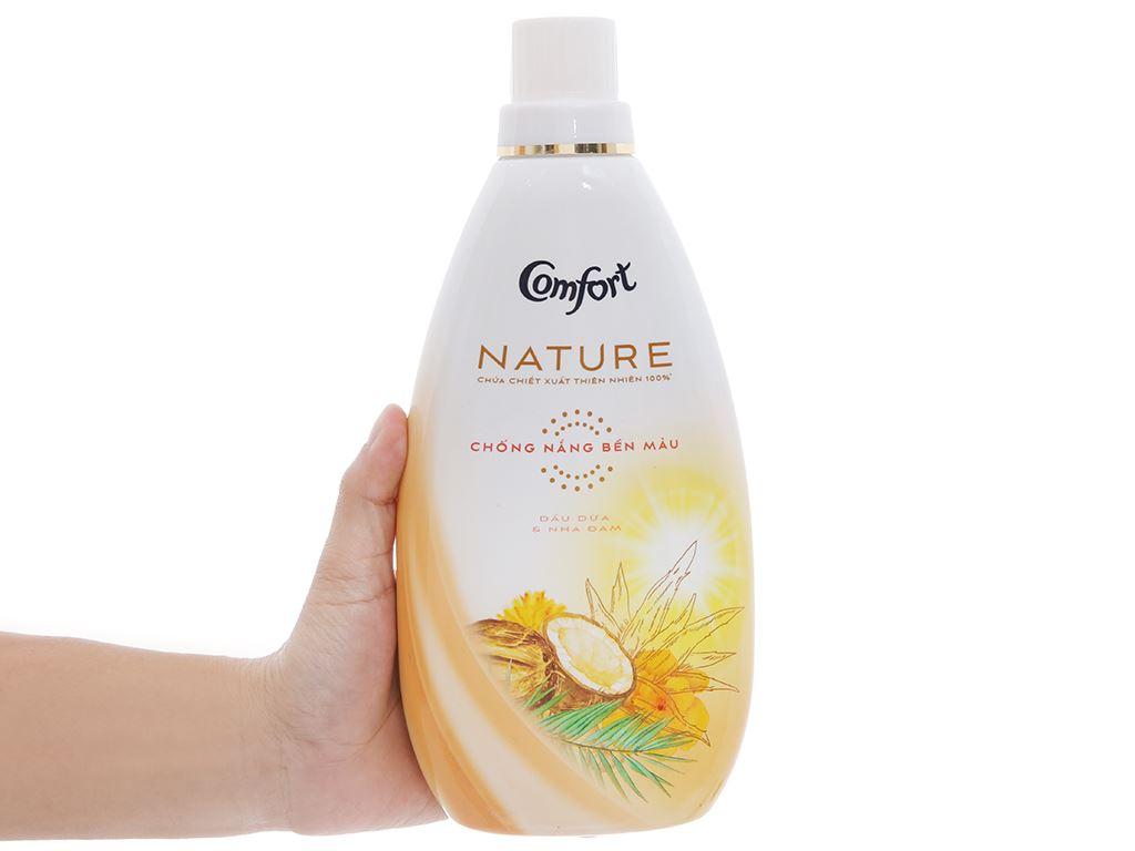 Nước xả vải Comfort Nature chiết xuất dầu dừa và nha đam chai 800ml 3