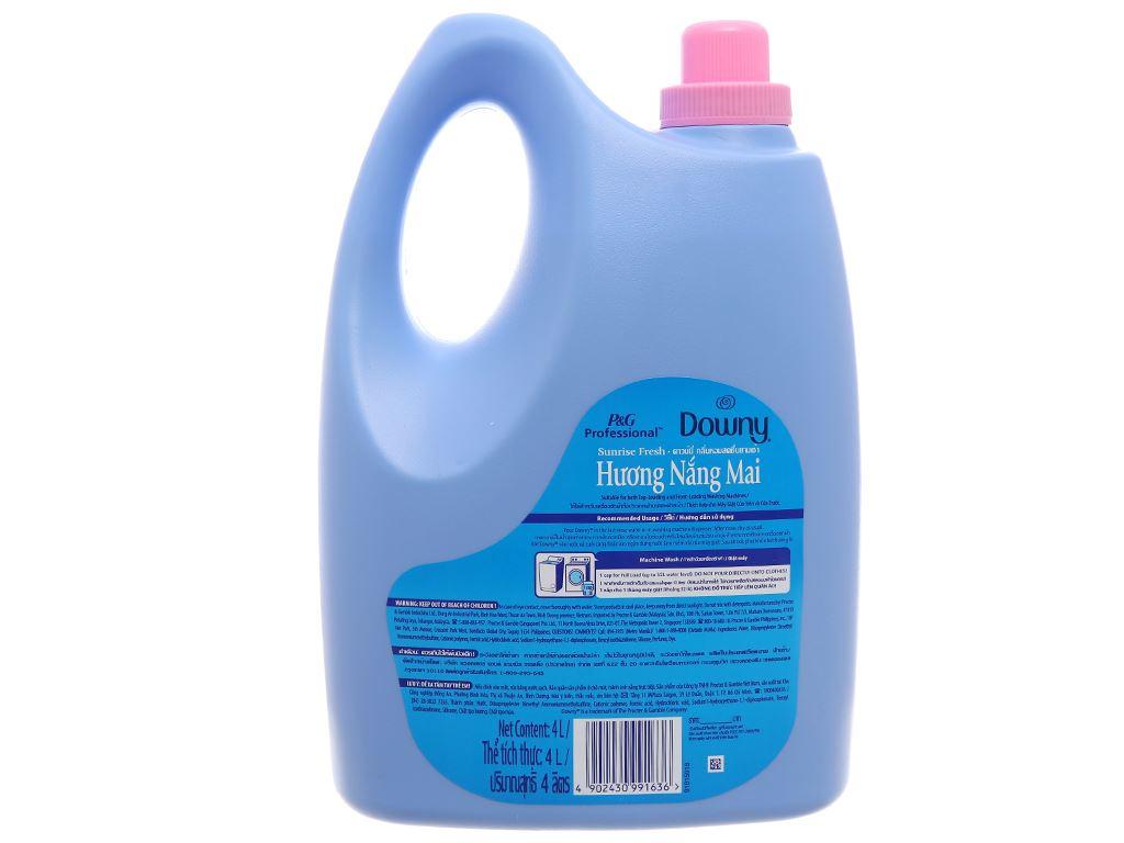 Nước xả vải Downy hương nắng mai can 4 lít 2