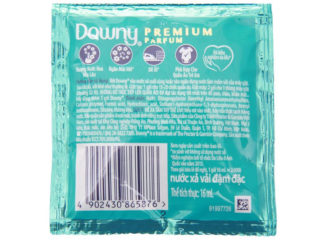 10 gói nước xả vải Downy Premium Parfum đại dương xanh 16ml 3