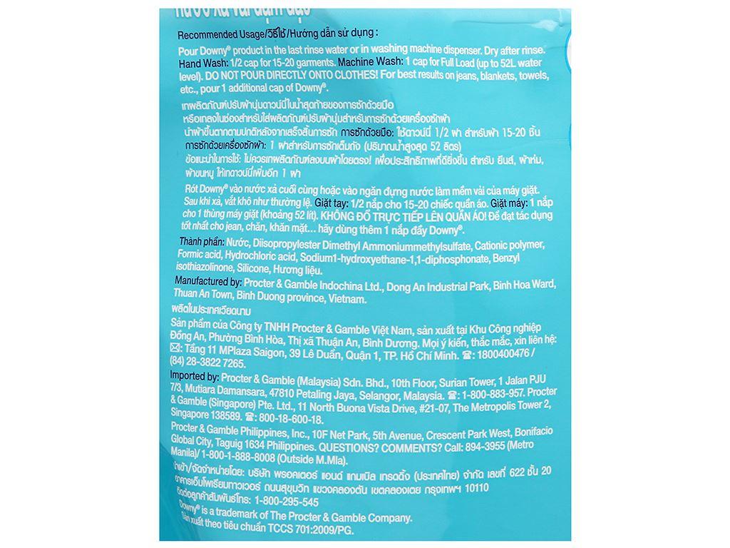 Nước xả vải Downy Premium Parfum đại dương xanh túi 2.1 lít 3