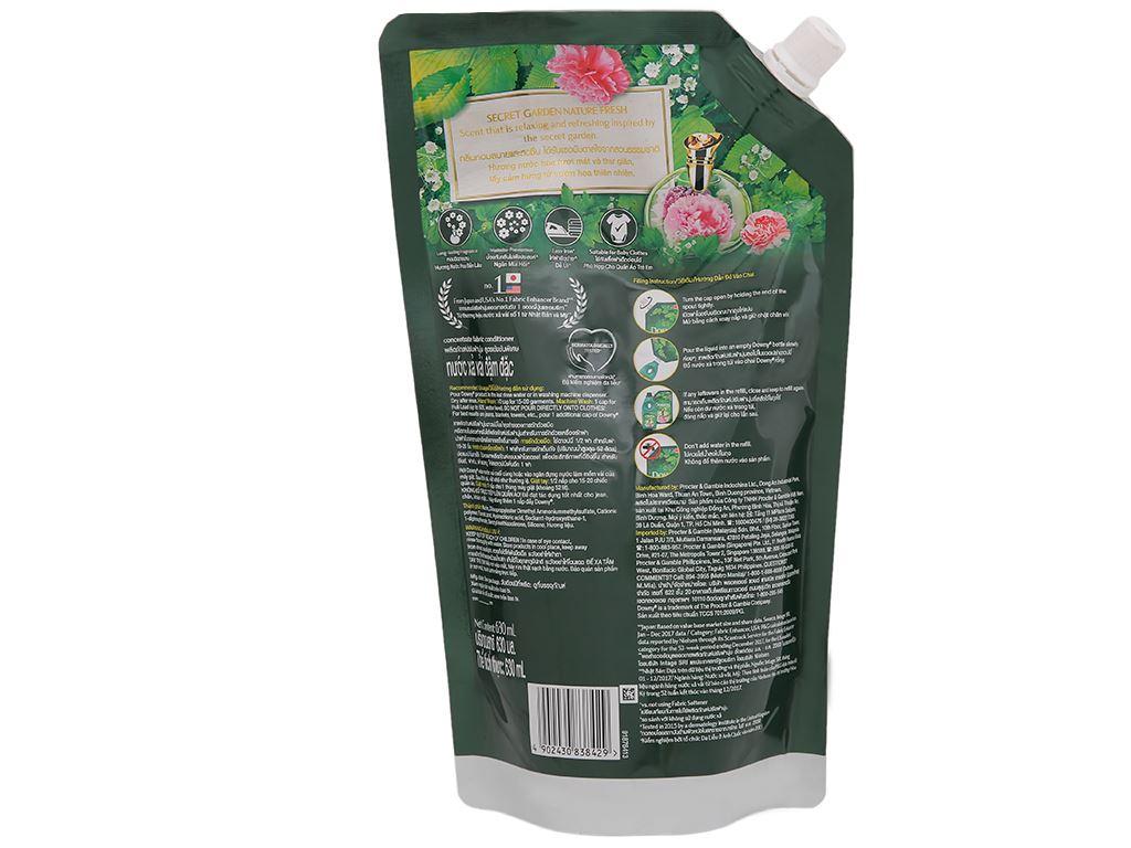 Nước xả vải Downy Premium Parfum vườn địa đàng túi 630ml 3