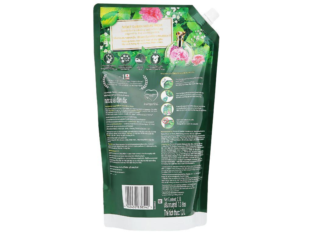 Nước xả vải Downy Premium Parfum vườn địa đàng túi 1.3 lít 3