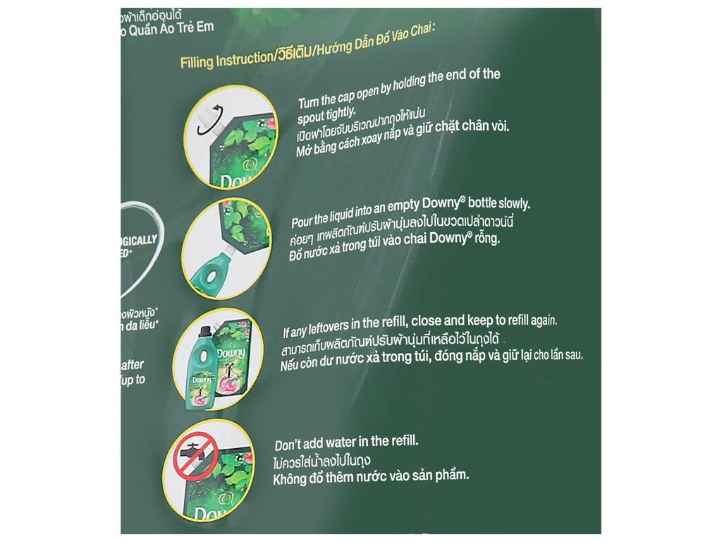 Nước xả vải Downy Premium Parfum vườn địa đàng túi 1.3 lít 5