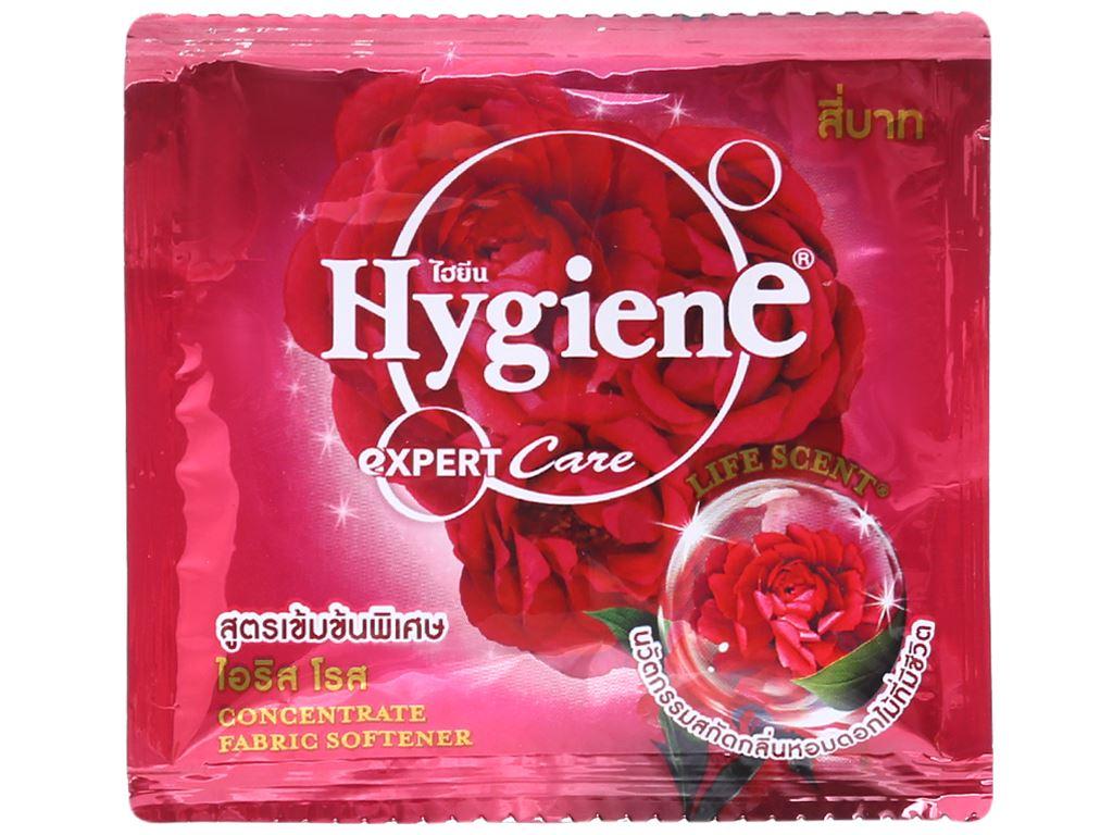 12 gói Nước xả vải Hygiene Expert Care đỏ 20ml 2