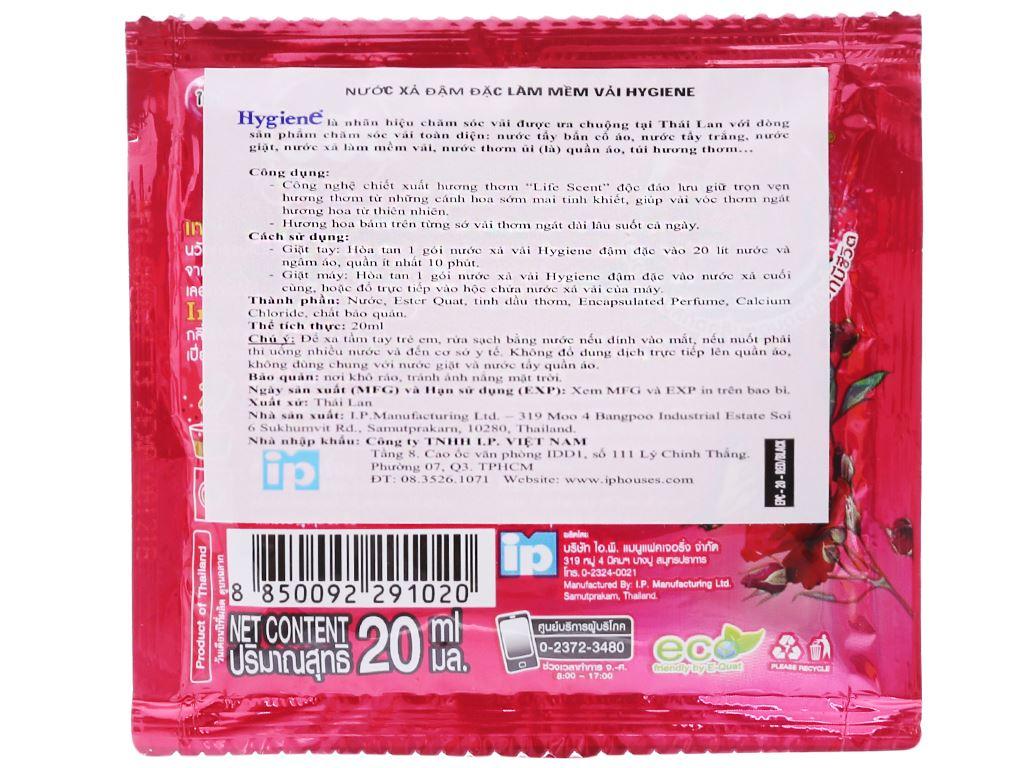 12 gói Nước xả vải Hygiene Expert Care đỏ 20ml 3