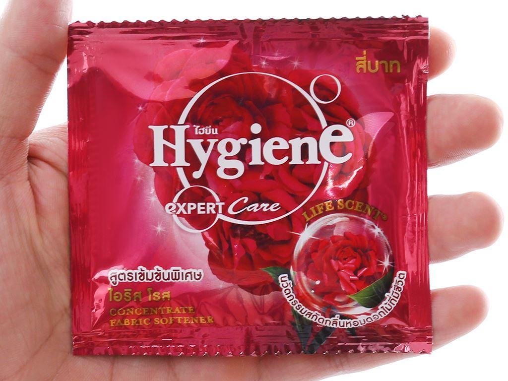 12 gói Nước xả vải Hygiene Expert Care đỏ 20ml 4