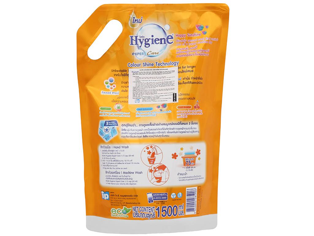Nước xả vải Hygiene Expert Care cam túi 1.5 lít 4