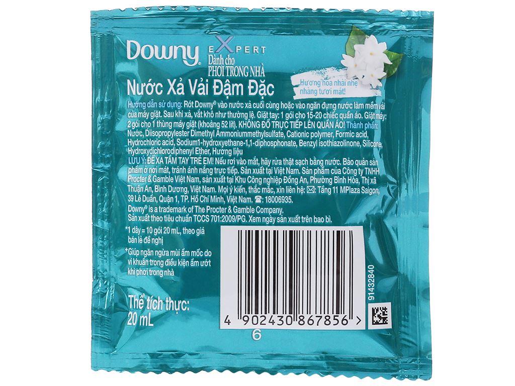 9 gói nước xả vải Downy Expert phơi trong nhà 20ml 3