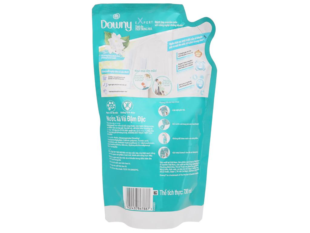 Nước xả vải Downy Expert phơi trong nhà túi 730ml 3