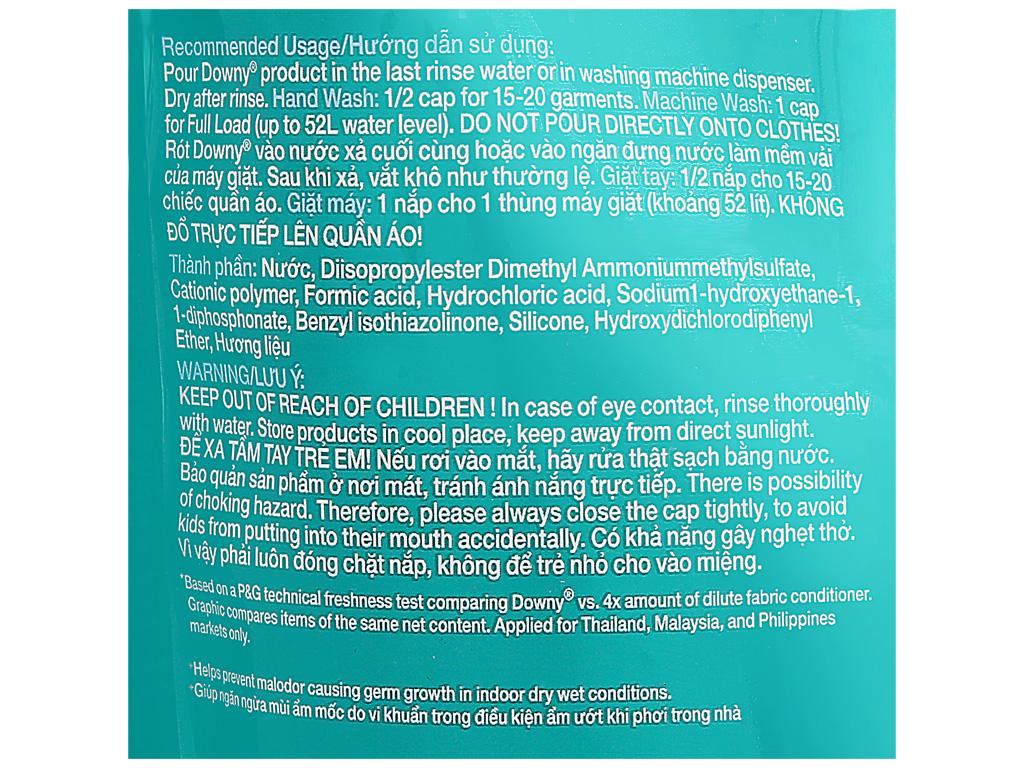 Nước xả vải Downy Expert phơi trong nhà túi 1.5 lít 4