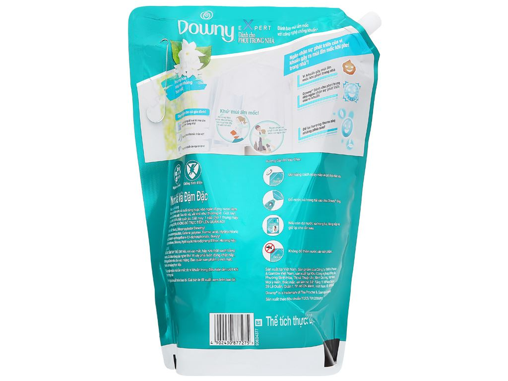 Nước xả vải Downy Expert phơi trong nhà túi 2.4 lít 4