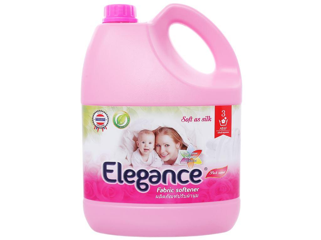 Nước xả vải Elegance hồng quyến rũ can 3.5 lít 1