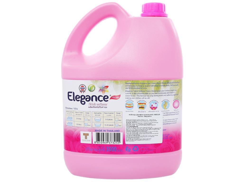 Nước xả vải Elegance hồng quyến rũ can 3.5 lít 2