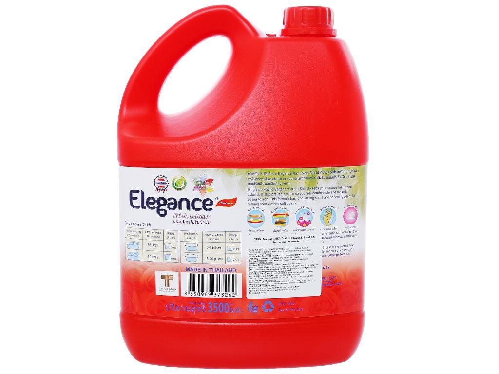 Nước xả vải Elegance đỏ đam mê can 3.5 lít 2