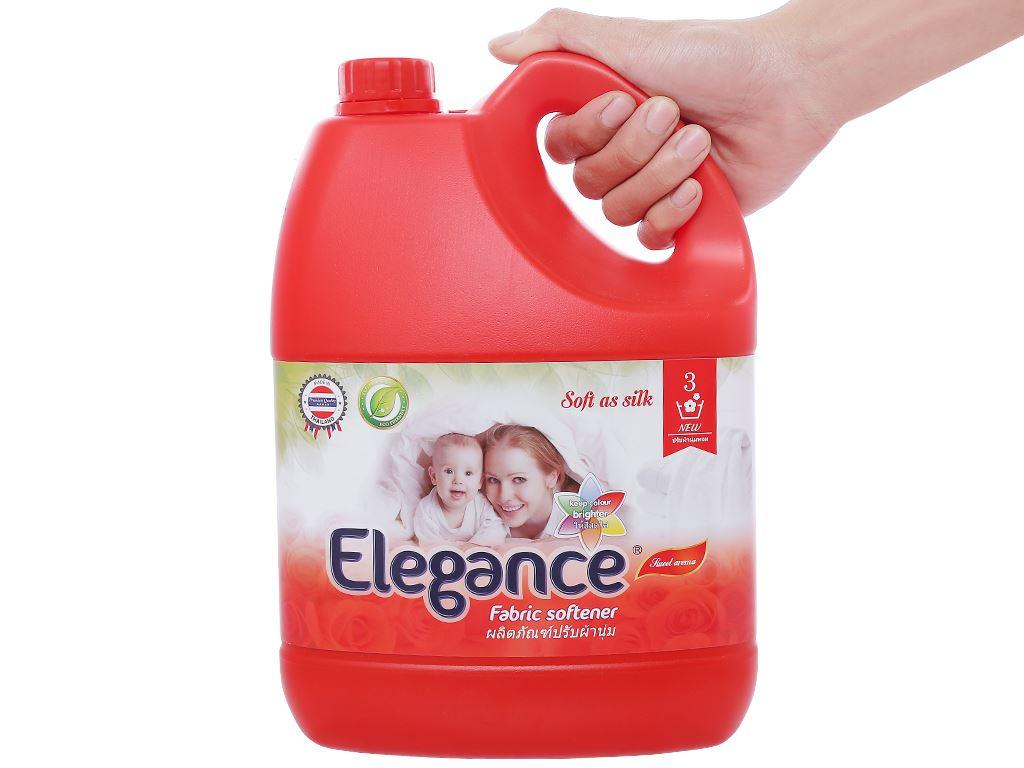 Nước xả vải Elegance đỏ đam mê can 3.5 lít 5