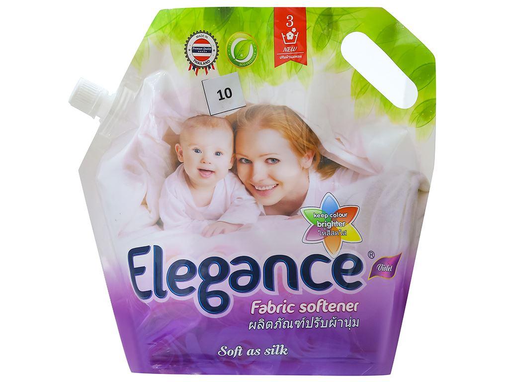 Nước xả vải Elegance tím ngọt ngào túi 1.8 lít 1