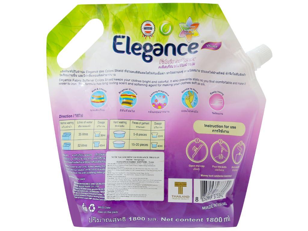 Nước xả vải Elegance tím ngọt ngào túi 1.8 lít 2