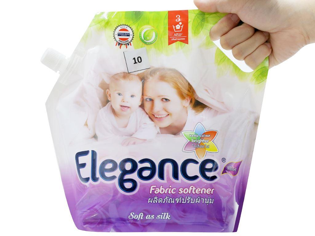 Nước xả vải Elegance tím ngọt ngào túi 1.8 lít 5