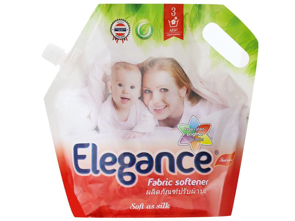 Nước xả vải Elegance đỏ đam mê túi 1.8 lít 1