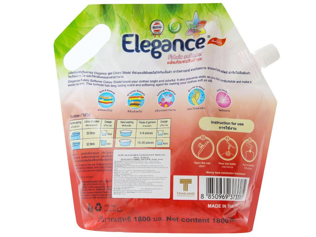 Nước xả vải Elegance đỏ đam mê túi 1.8 lít 2