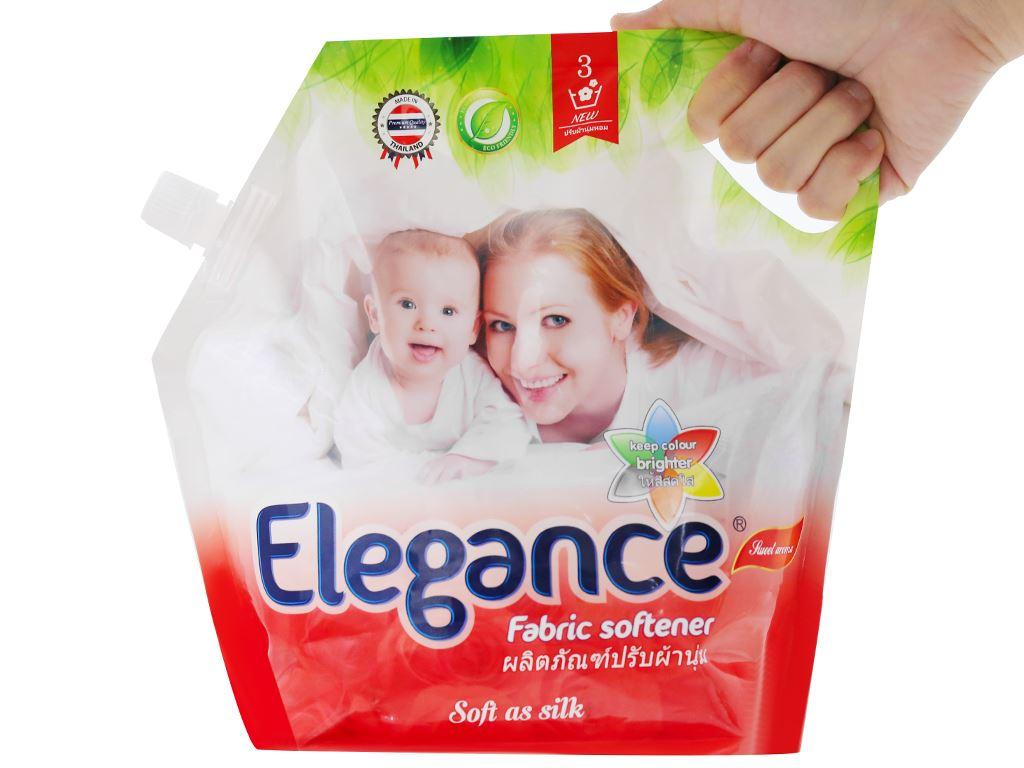 Nước xả vải Elegance đỏ đam mê túi 1.8 lít 5
