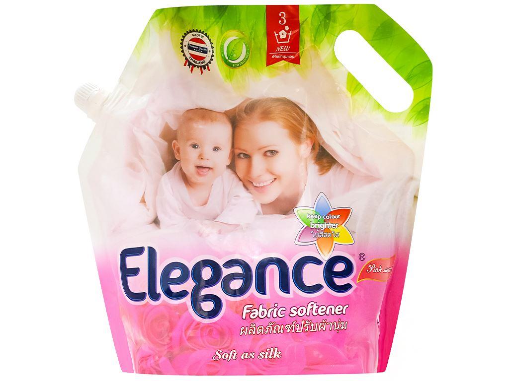 Nước xả vải Elegance hồng quyến rũ túi 1.8 lít 1