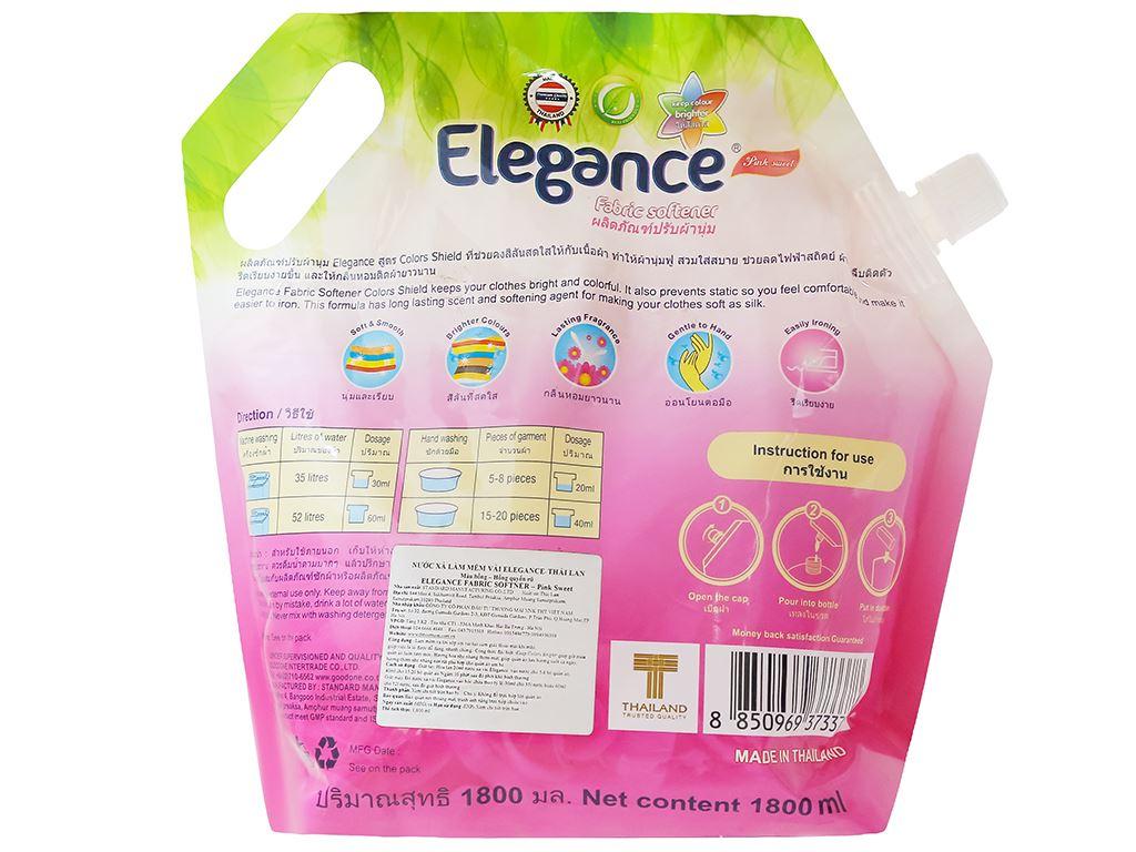 Nước xả vải Elegance hồng quyến rũ túi 1.8 lít 2