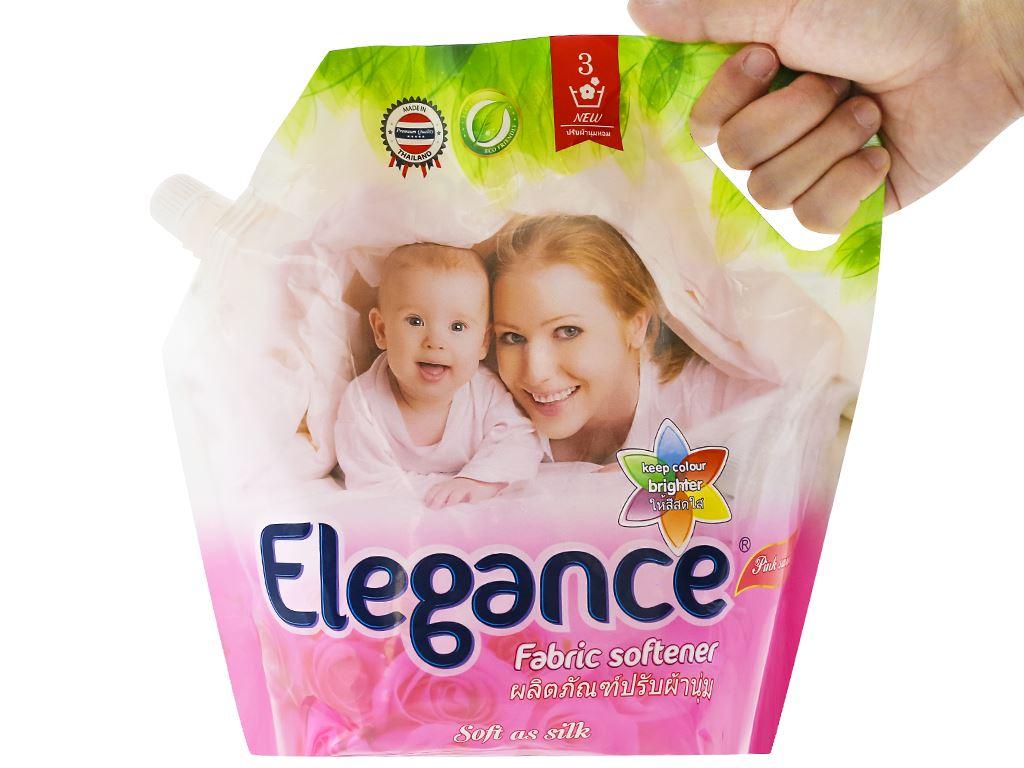Nước xả vải Elegance hồng quyến rũ túi 1.8 lít 5