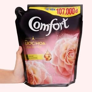 Nước xả vải Comfort hương nước hoa thiên nhiên rose túi 2.4 lít