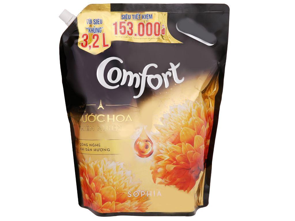 Nước xả vải Comfort hương nước hoa thiên nhiên Sophia túi 3.2 lít 3