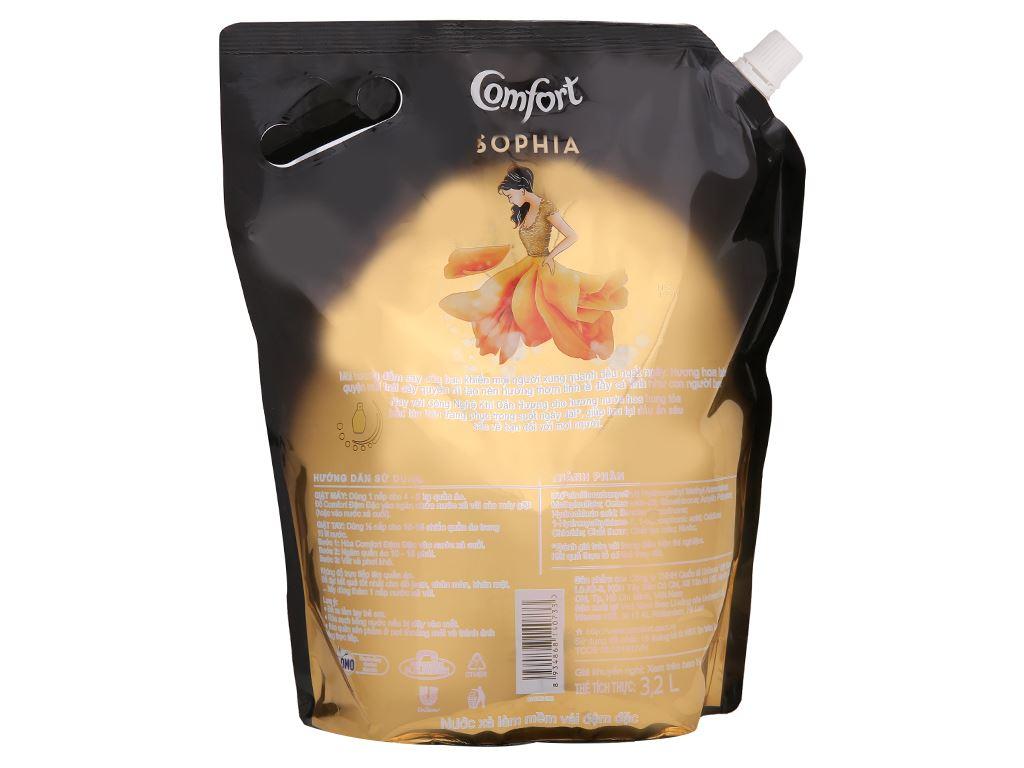 Nước xả vải Comfort hương nước hoa thiên nhiên Sophia túi 3.2 lít 4