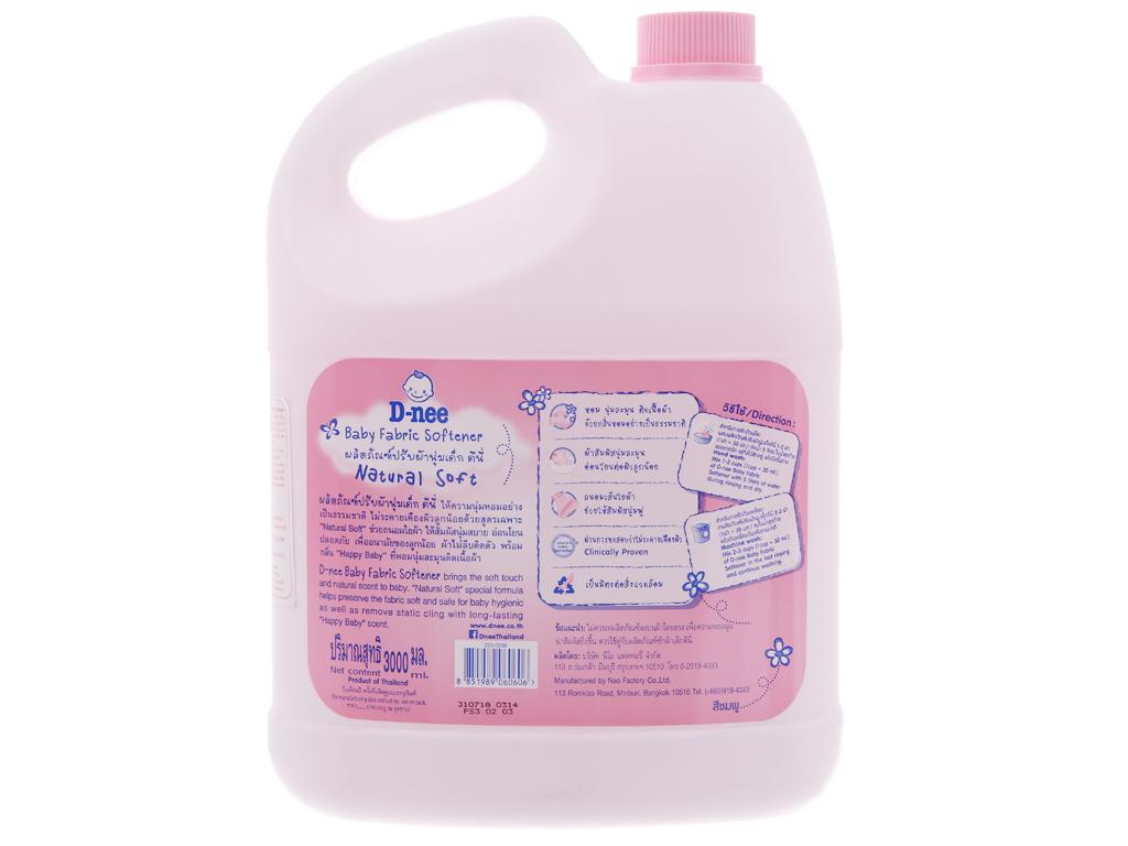Nước xả vải cho bé D-nee hồng can 3 lít 2