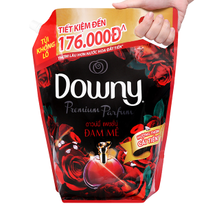 Nước xả vải Downy Premium Parfum đam mê túi 3 lít