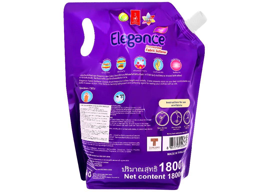 Nước xả vải Elegance Violet tím ngọt ngào túi 1.8 lít 2