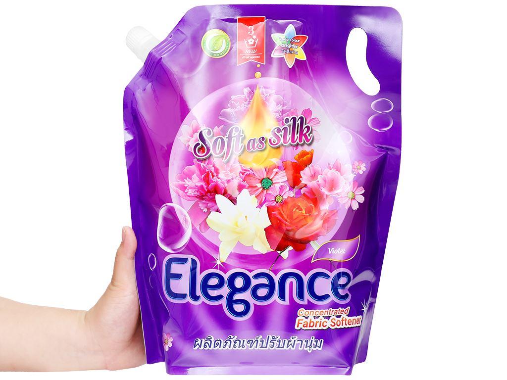 Nước xả vải Elegance Violet tím ngọt ngào túi 1.8 lít 4
