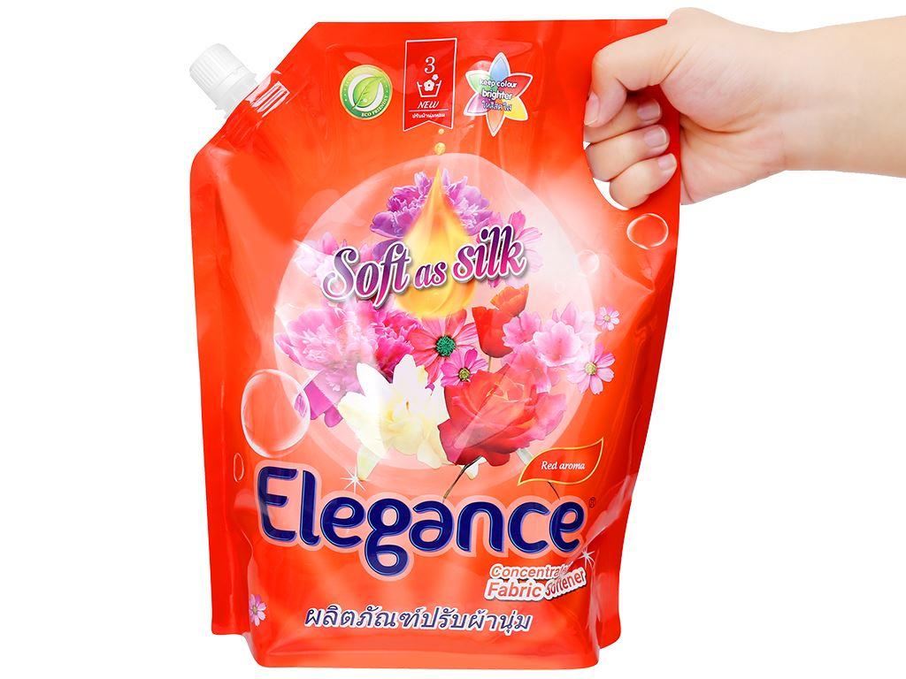 Nước xả vải Elegance Red aroma đỏ đam mê túi 1.8 lít 5