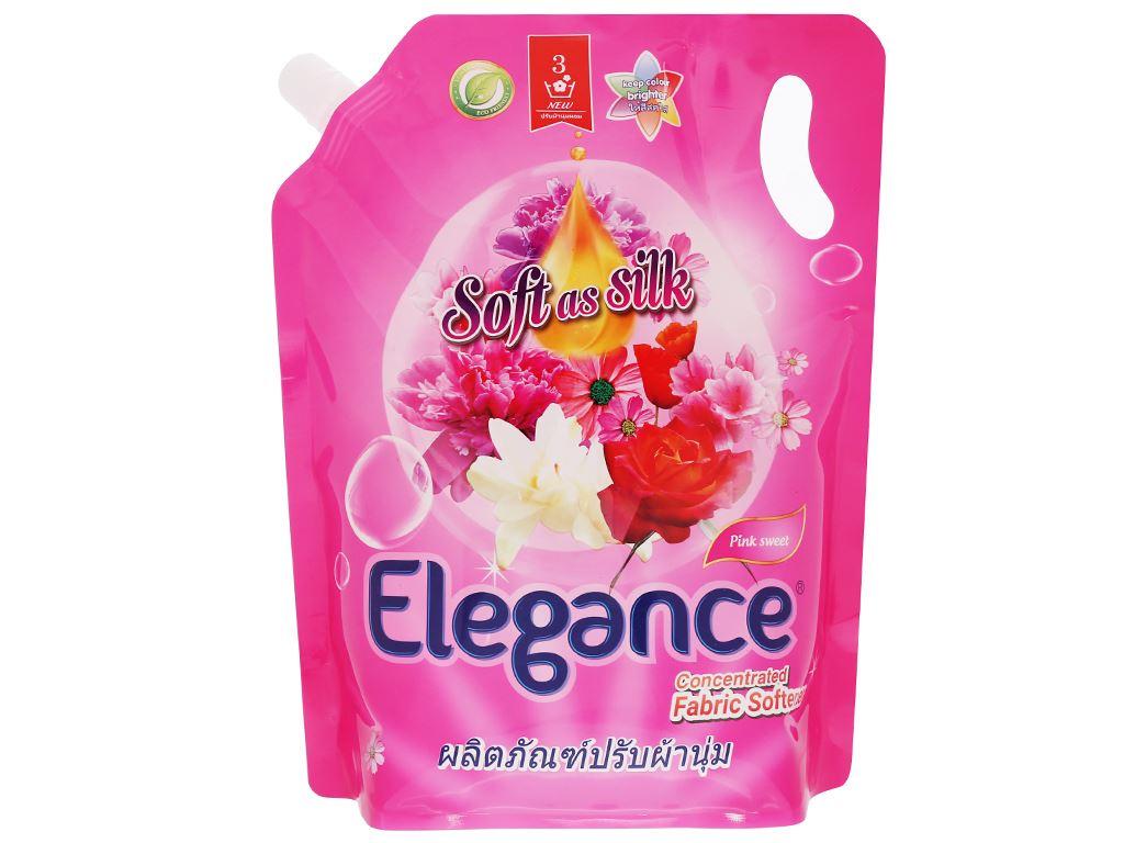 Nước xả vải Elegance Pink Sweet hồng quyến rũ túi 1.8 lít 1
