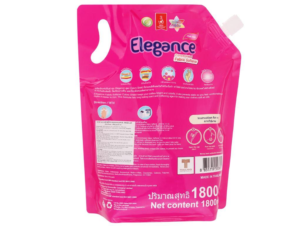 Nước xả vải Elegance Pink Sweet hồng quyến rũ túi 1.8 lít 2