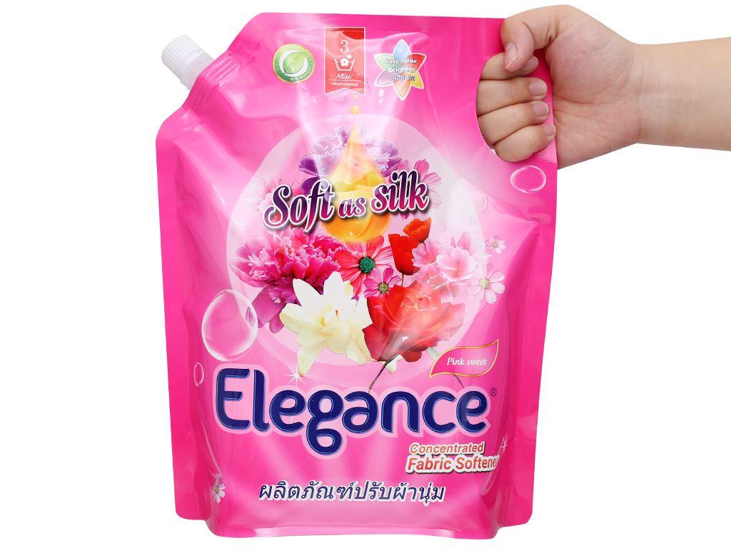 Nước xả vải Elegance Pink Sweet hồng quyến rũ túi 1.8 lít 4