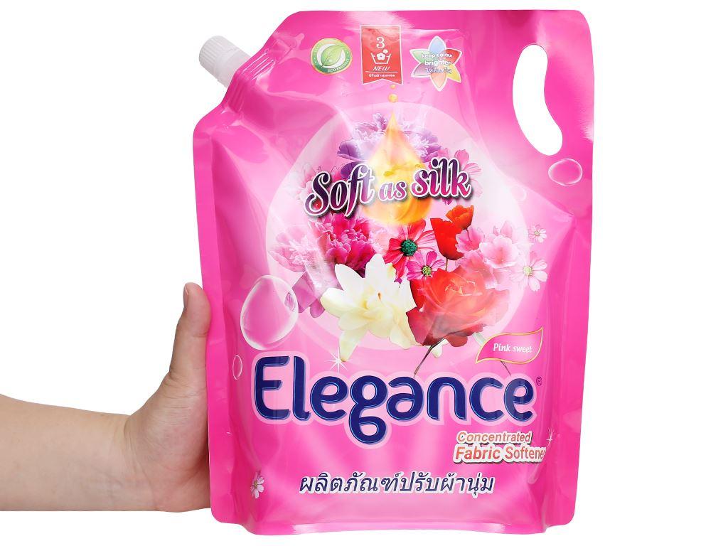 Nước xả vải Elegance Pink Sweet hồng quyến rũ túi 1.8 lít 5