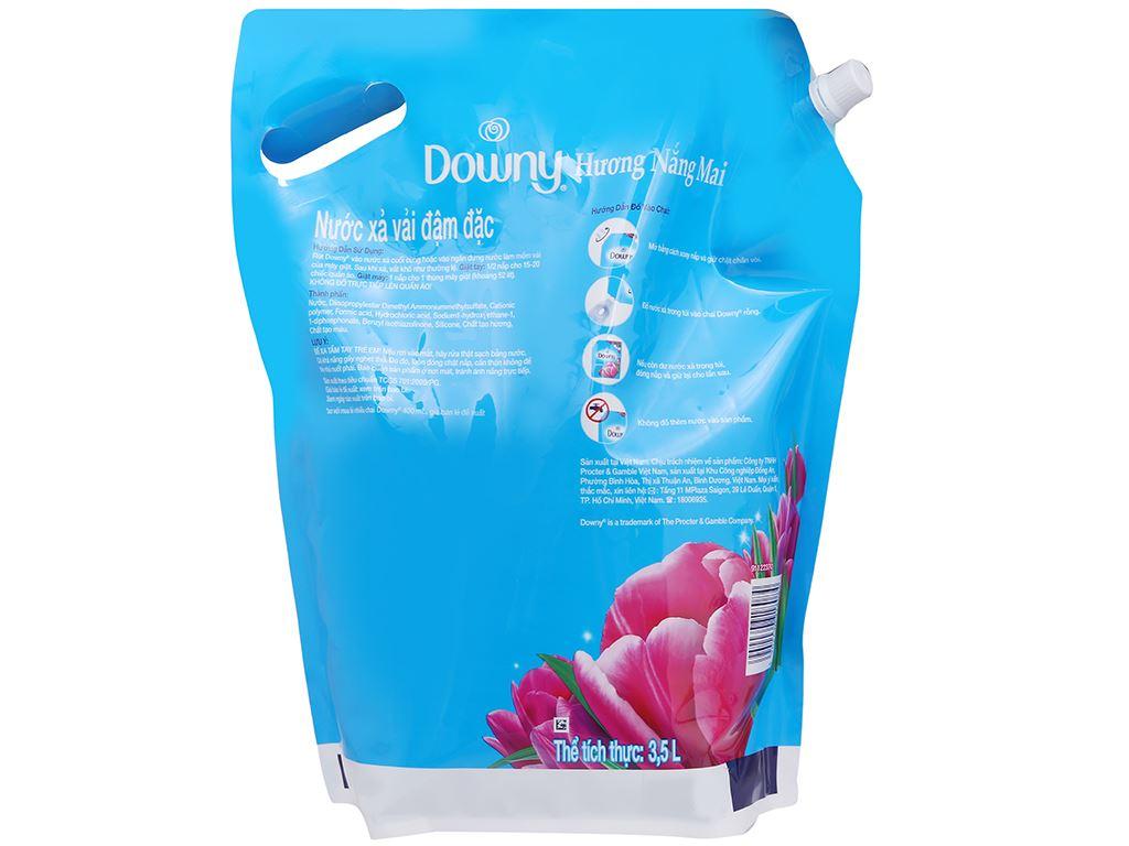 Nước xả vải Downy hương nắng mai túi 3.5 lít 2